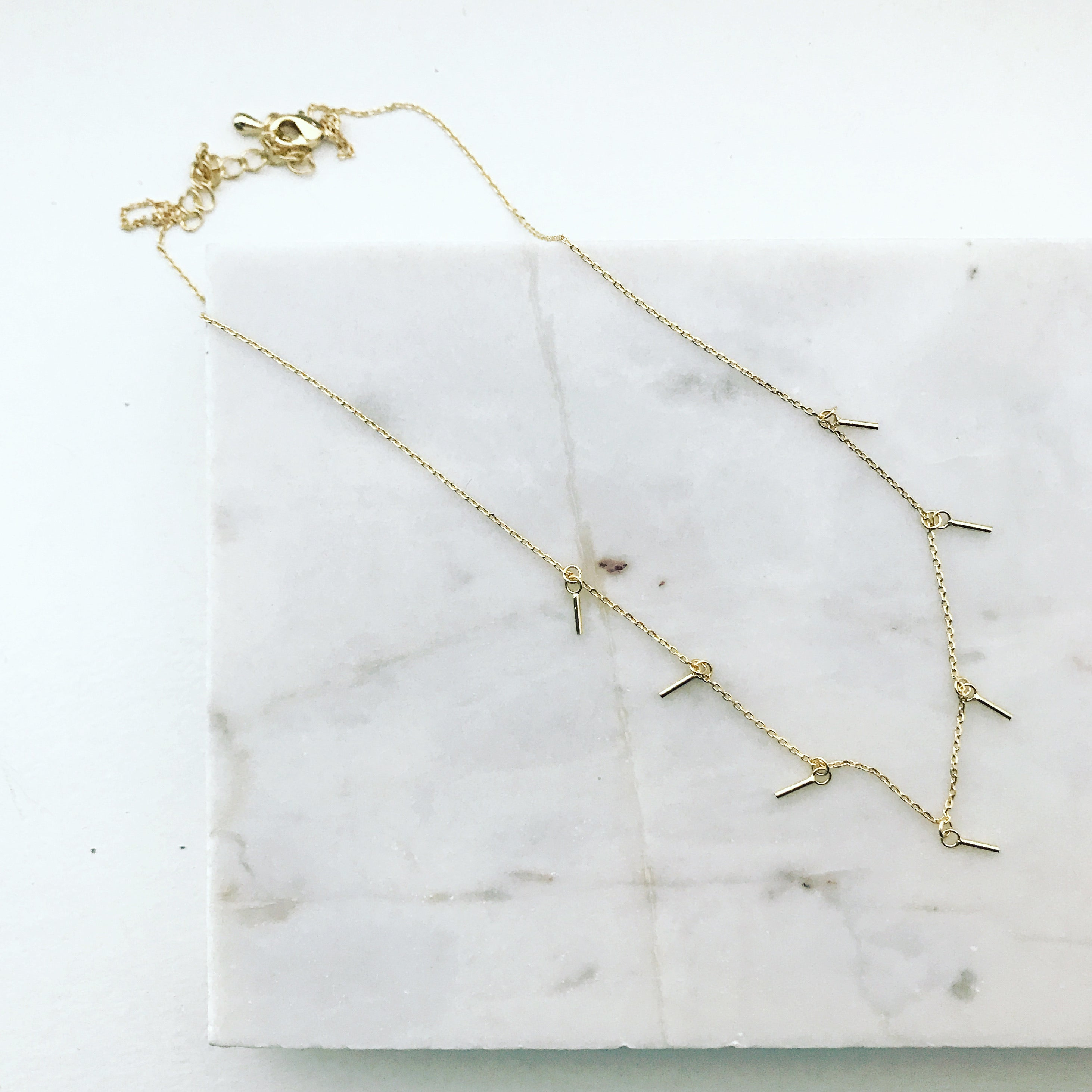 Floating Bars Necklace