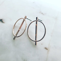 Middle Bar Earrings