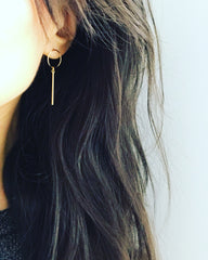Hoop Bar Drop Earrings