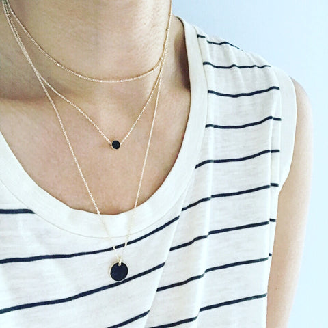 Layered Necklace: Dot Disc