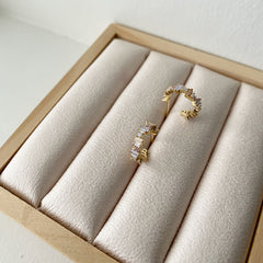 Stacking Baguette Hoop Earrings