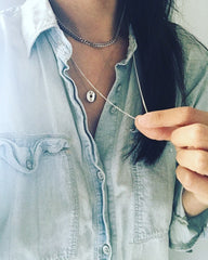 Layered Necklace: Donut Washer