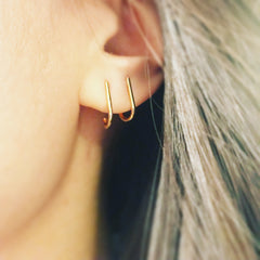 Solid Suspender Earring