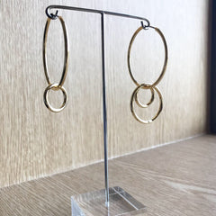 Unbalanced Hoop Earrings