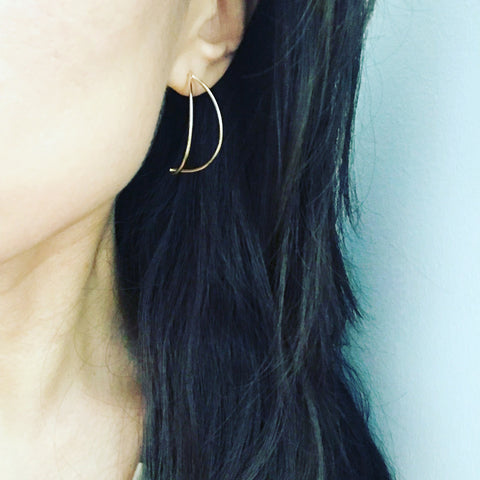 Banana Hoop Earrings
