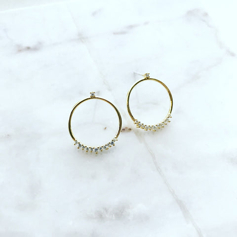 Circular Bling Earrings