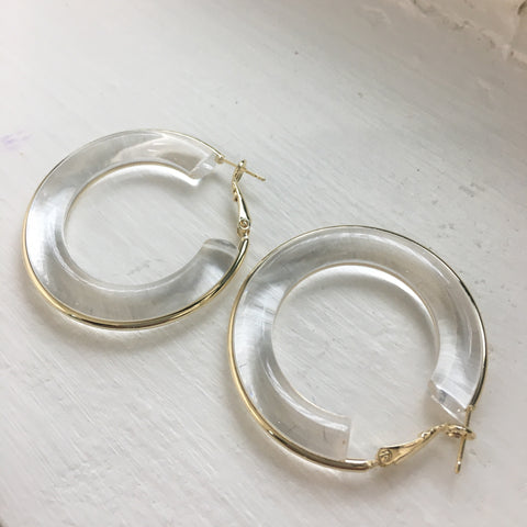 Acrylic Hoop Earrings | 8 colors
