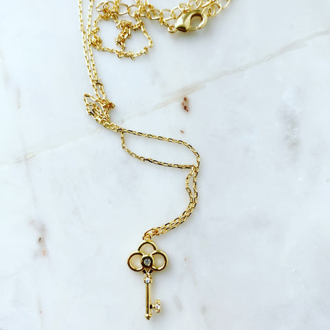 Key Trefoil Necklace