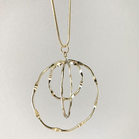 Triple Ring Sphere Necklace