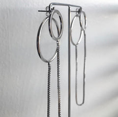 Box Chain Connector Earrings