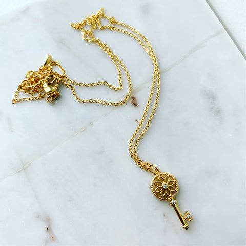 Key Pinwheel Necklace