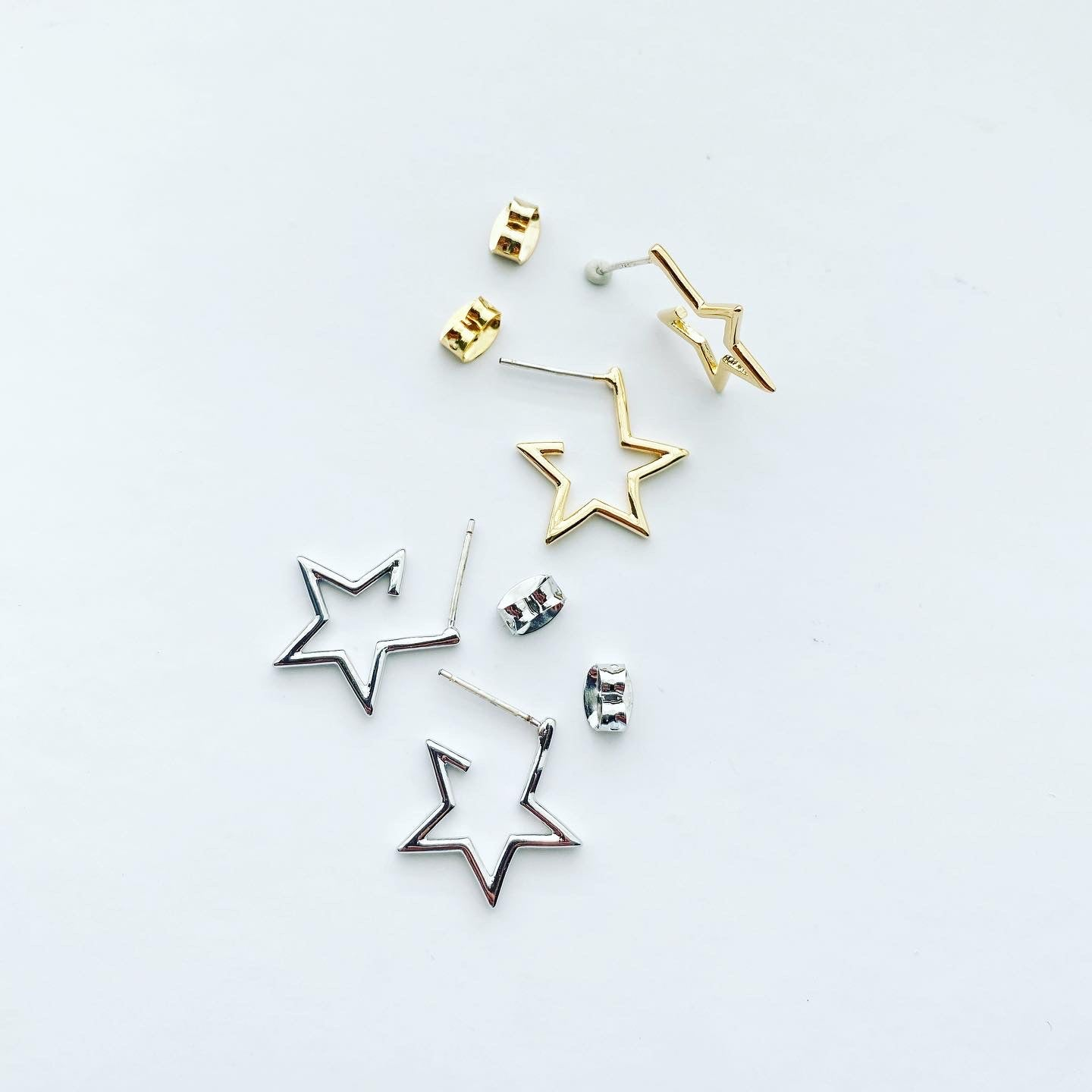 Star Pop-Up Hoop Earrings