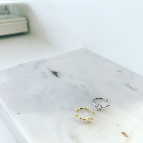 Ear Cuff | Single Cubic