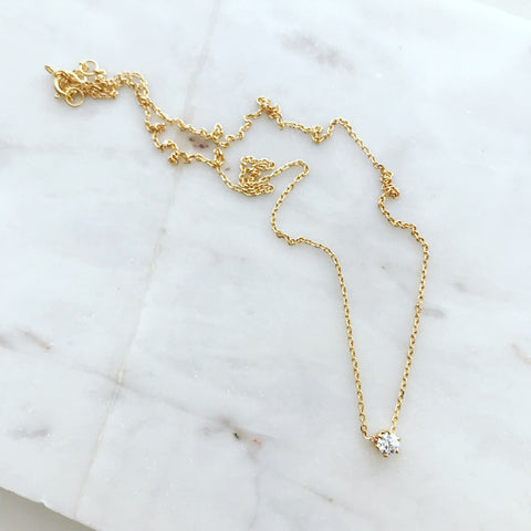 Barely There (3mm) Solitaire Necklace