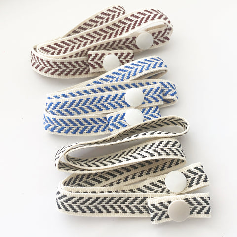 Snap Chevron Embroidered