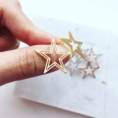 Star Stencil Earrings