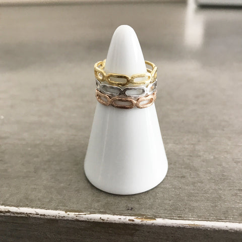 Open Oval Band Ring