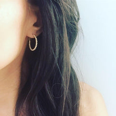 Dotty Beaded Hoop Earrings