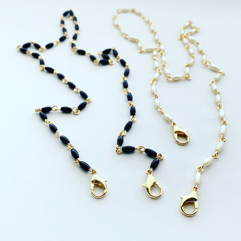 Pearl Oblong Chain