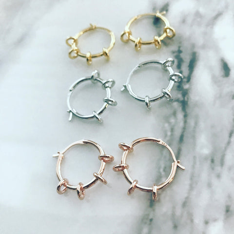 Hoop Earrings: Halo Rings