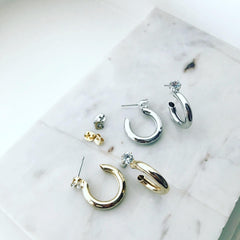 Tunnel Hoop Earrings