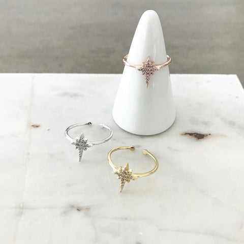 North Star Sparkle (Starburst) Ring