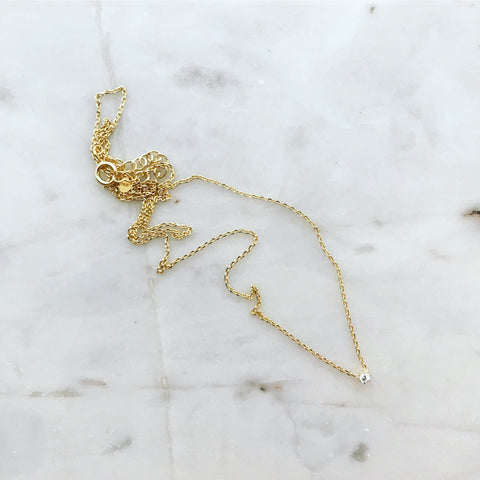 Barely There (2mm) Solitaire Necklace