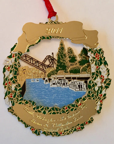 2011 Seattle Ornament: Hiram M. Chittenden Locks - Ballard Locks