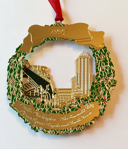 1997 Seattle Ornament: Pioneer Square Pergola and Smith Tower