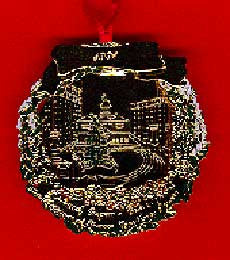 1991 Portland Ornament: Christmas at Pioneer Courthouse Square