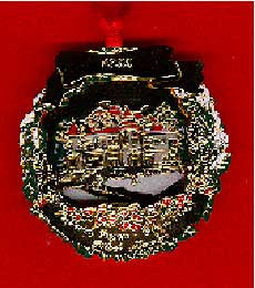 1992 Portland Ornament: Snowfall at Pittock Mansion