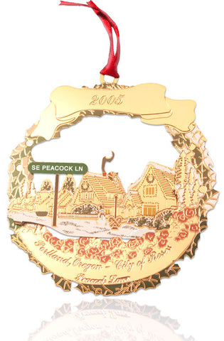 2005 Portland Ornament: Peacock Lane