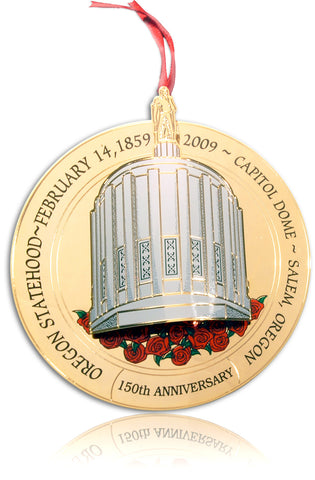 2009 Portland Ornament: Oregon Statehood 150th Anniversary - The Capitol Dome, Salem OR