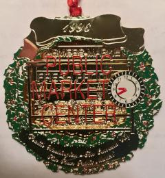 1996 Seattle Ornament: Pike Place Public Market