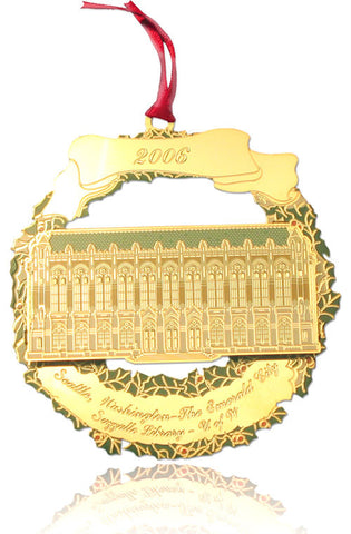2006 Seattle Ornament: Suzzallo Library - Univ. of Washington
