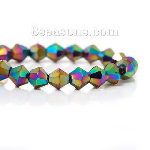 Bicone Beads - Crystal Glass 6mm