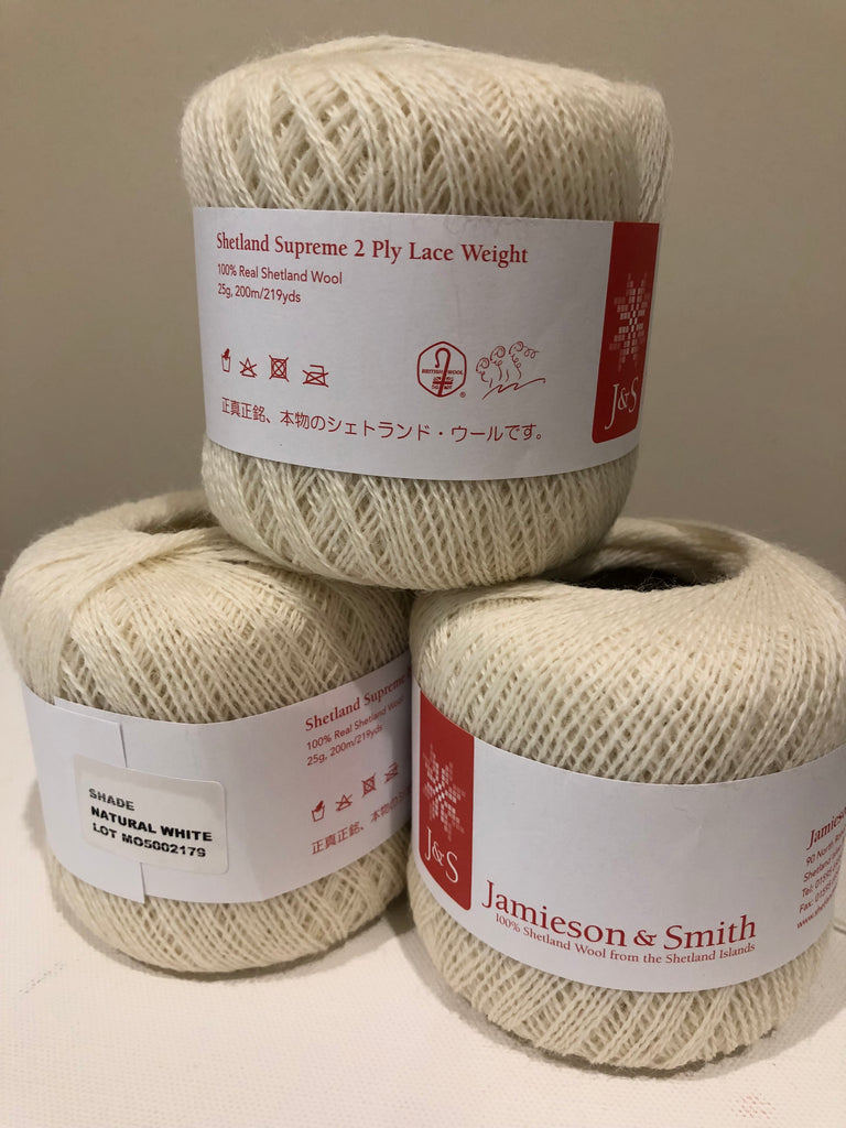 Jamieson and Smith Shetland Supreme 2 Ply Lace Donuts