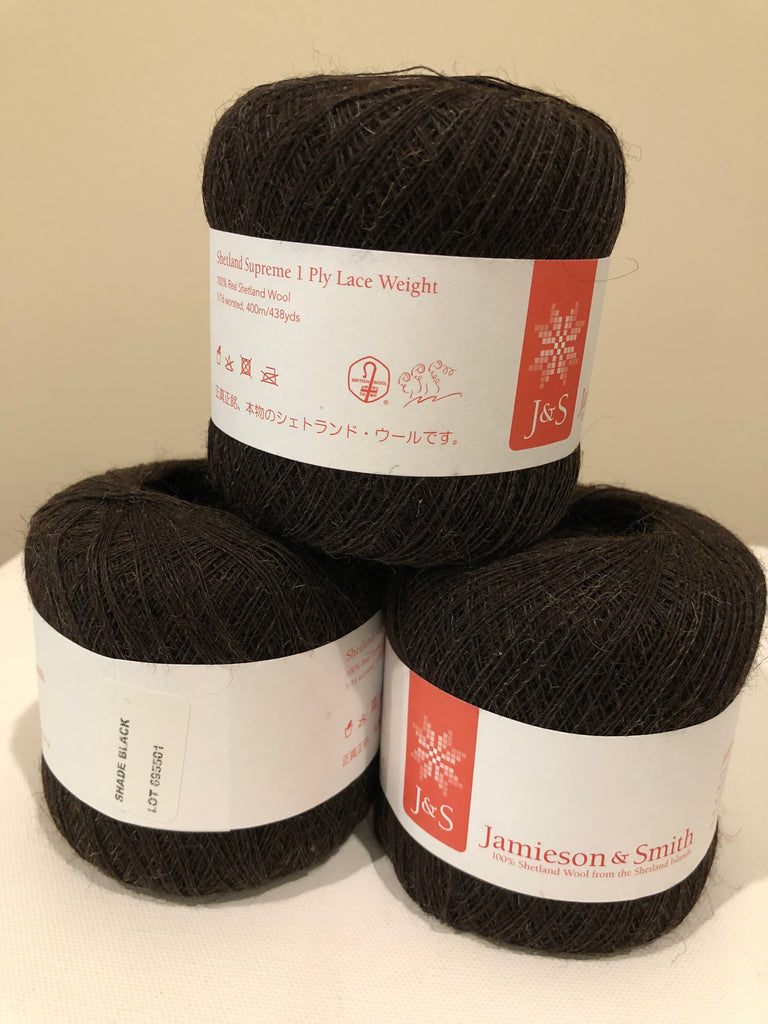 Jamieson and Smith 1ply Shetland Supreme Lace Donuts