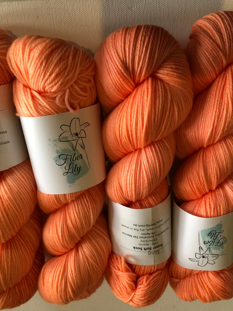 Fiber Lily Hand Dyed Sock Yarn