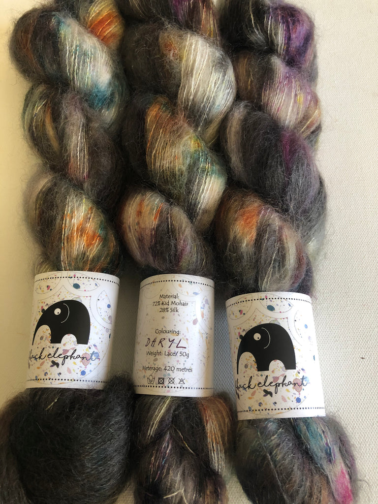 Black Elephant Kid Mohair