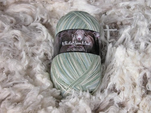 White Gum Wool Natural 4ply
