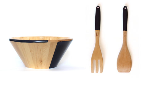 Twiglee salad bowl and servers