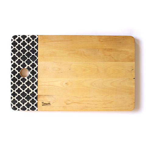 LARGE WOODEN BOARD - MOROCCAN CHARCOAL
