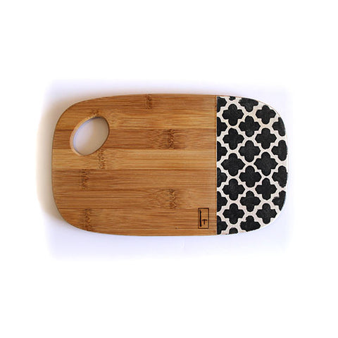 SMALL BAMBOO BOARD - MOROCCAN CHARCOAL