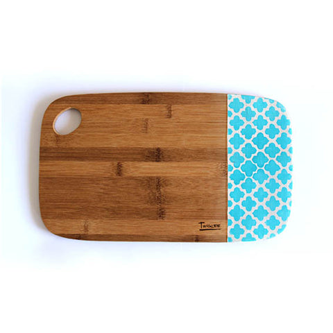 MEDIUM BAMBOO BOARD - MOROCCAN AQUA