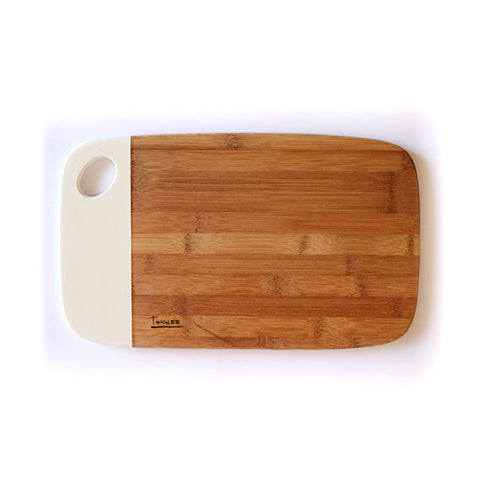 MEDIUM BAMBOO BOARD - WHITE/ SALE Discolored