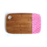 MEDIUM BAMBOO BOARD - MOROCCAN PINK