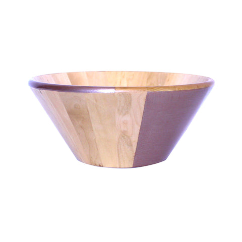 WOODEN SALAD BOWL - METALLIC