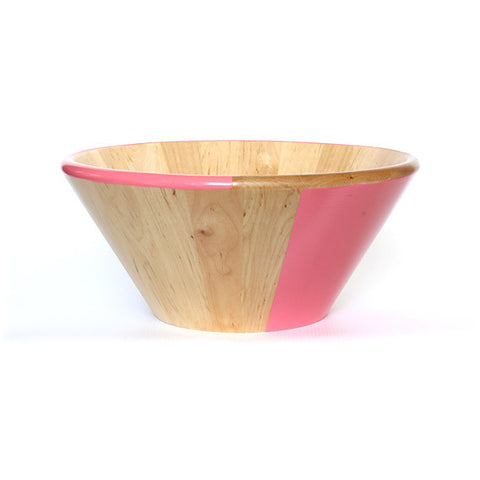 WOODEN SALAD BOWL - PINK