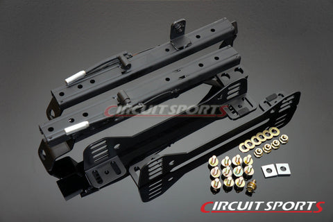 Circuit Sports Seat Rails (Double Lock, Side Mount) - Nissan 240SX/180SX/Silvia ('89-98 S13/S14)
